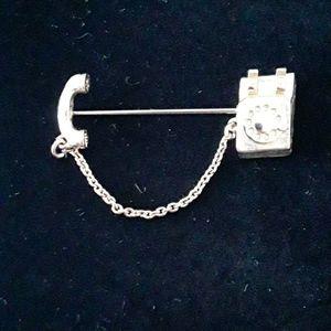 Fabulous Vintage Avon Telephone Pin